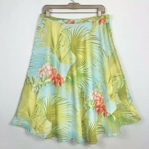 Tommy Bahama Womens 6 Skirt 100% Silk A Line Hawai